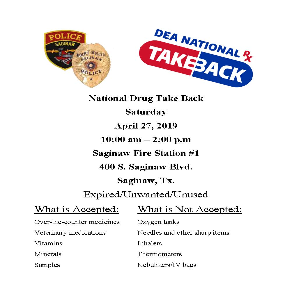 National Drug Take Back 2019