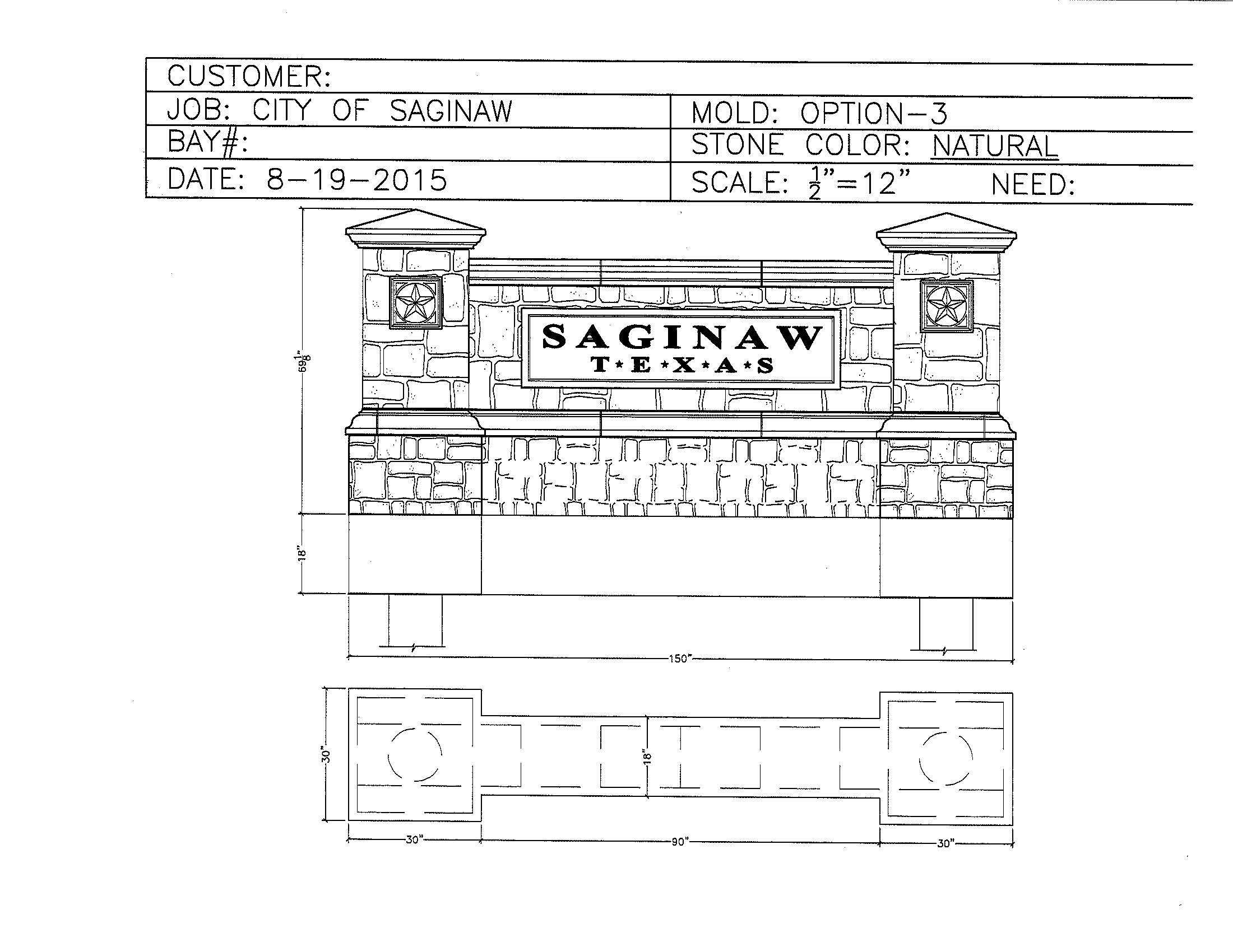 Saginaw Texas Diagram