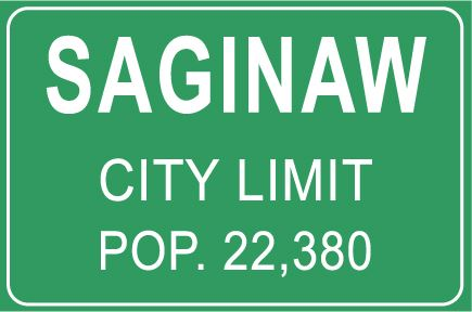 Saginaw City Limit, Population of 21, 320