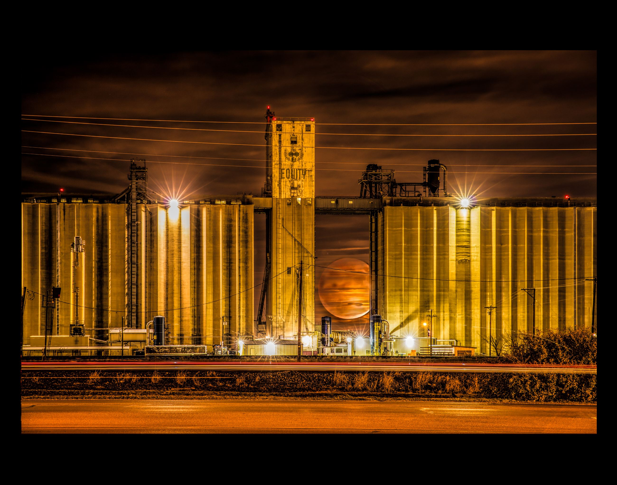 Blood Moon Rising Over the Silos- BOS