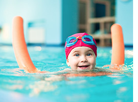 Girl Taking Swim Lessons