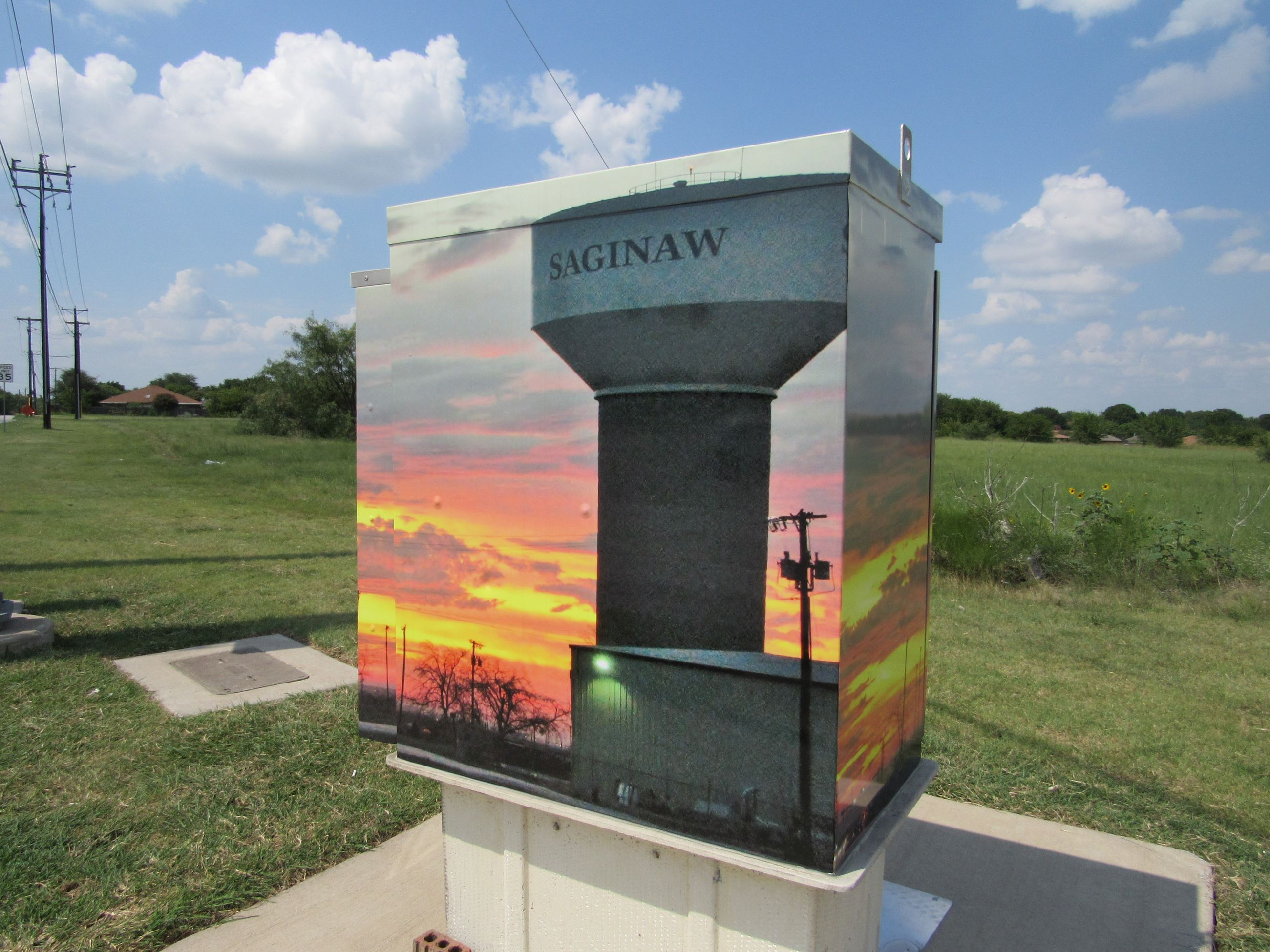 Traffic Control Box with Water Tower image